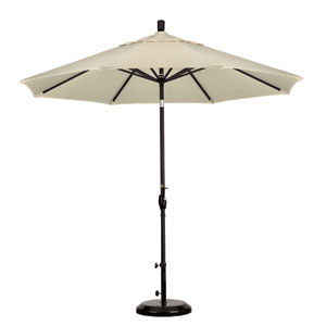 9 Foot Umbrella Aluminum Market Push Tilt - Matte Black/Pacifica/Canvas