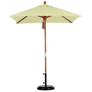 6 X 6 Foot Umbrella Wood Market Pulley Open Marenti Wood/Sunbrella/Canvas