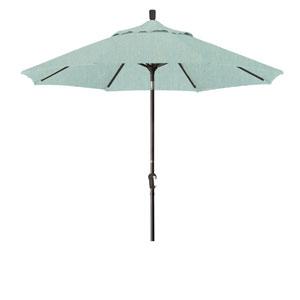 9 Foot Aluminum Market Umbrella Auto Tilt Bronze/Sunbrella/Spa