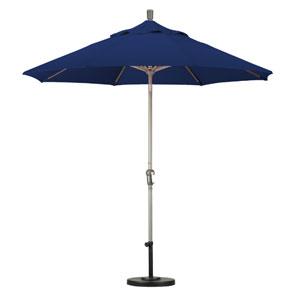 9 Foot Umbrella Aluminum Market Auto Tilt Champagne/Sunbrella/Navy