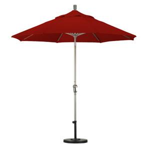 9 Foot Umbrella Aluminum Market Auto Tilt Champagne/Sunbrella/Terracotta