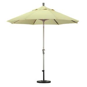 9 Foot Umbrella Aluminum Market Auto Tilt Champagne/Sunbrella/Canvas