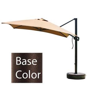 10 X 10 Foot Umbrella Square Cantilever Crank Lift Multi-Positon Bronze/Sunbrella/Terracotta