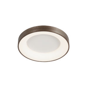 Acryluxe Sway Light Bronze Round LED Flush Mount