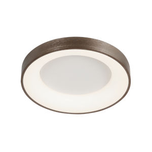 Acryluxe Sway Light Bronze LED Flush Mount with Opal Glass