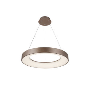 Acryluxe Sway Light Bronze LED Pendant with Opal Acrylic Shade