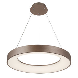 Acryluxe Sway Light Bronze Round LED Pendant