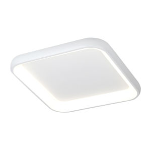 Acryluxe Polaris Matte White LED Flush Mount with Opal Acrylic Shade