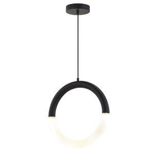 Acryluxe Revolve Matte Black Two-Light LED Pendant