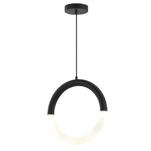 Acryluxe Revolve Matte Black Two-Light LED Pendant