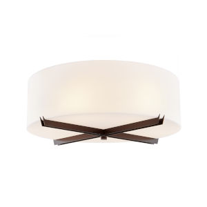 Acryluxe Dark Bronze Three-Light Flush Mount