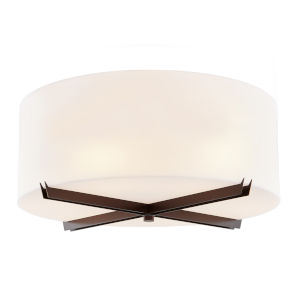 Acryluxe Dark Bronze Six-Light Flush Mount