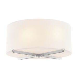 Acryluxe Brushed Nickel Six-Light Flush Mount