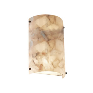Alabaster Rocks Finials Dark Bronze LED Outdoor Wall Sconce