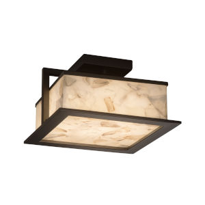 Alabaster Rocks Dark Bronze 12-Inch LED Flush Mount