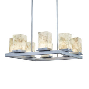 Alabaster Rocks! - Laguna Dark Bronze 25-Inch Eight-Light LED Outdoor Chandelier