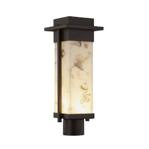 Alabaster Rocks Dark Bronze LED Outdoor Post