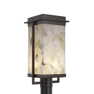 Alabaster Rocks! - Pacific Dark Bronze Nine-Inch LED Outdoor Post Light