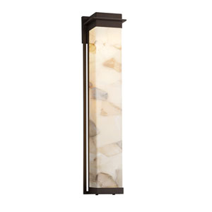 Alabaster Rocks Pacific Dark Bronze LED Outdoor Wall Sconce
