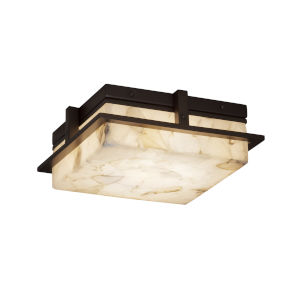 Alabaster Rocks Dark Bronze 10-Inch LED Flush Mount