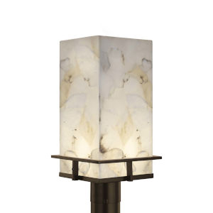 Alabaster Rocks! - Avalon Brushed Nickel Nine-Inch LED Outdoor Post Light