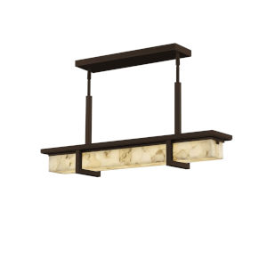 Alabaster Rocks! - Monolith Dark Bronze Six-Inch LED Outdoor Chandelier