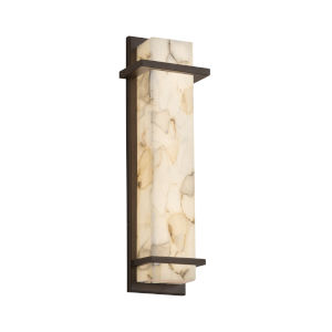 Alabaster Rocks Dark Bronze ADA LED Wall Sconce