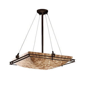 Alabaster Rocks Metropolis Dark Bronze Six-Light Pendant