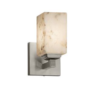 Alabaster Rocks Regency Brushed Nickel One-Light Wall Sconce