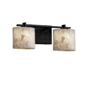 Alabaster Rocks Matte Black Two-Light LED Bath Vanity