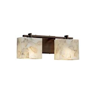 Alabaster Rocks! - Era Polished Chrome Two-Light LED Bath Bar with Rectangle Alabaster Rocks Shade