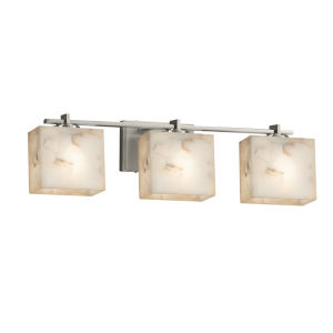 Alabaster Rocks Era Brushed Nickel Three-Light Bath Vanity