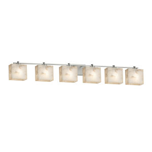 Alabaster Rocks Era Brushed Nickel Six-Light LED Bath Vanity