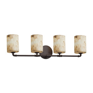 Alabaster Rocks Dark Bronze Four-Light LED Bath Vanity