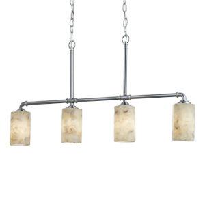 Alabaster Rocks! - Bronx Dark Bronze Five-Inch Four-Light LED Chandelier