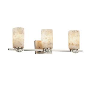 Alabaster Rocks! - Malleo Dark Bronze 24-Inch Three-Light LED Bath Vanity