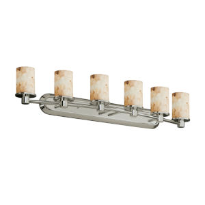 Alabaster Rocks Rondo Brushed Nickel Six-Light Bath Vanity