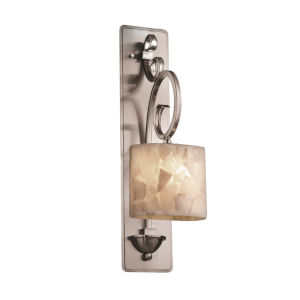 Alabaster Rocks Archway Brushed Nickel LED Wall Sconce