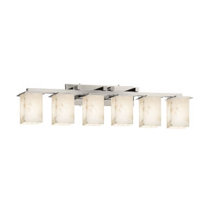 Alabaster Rocks Montana Brushed Nickel Six-Light Bath Vanity