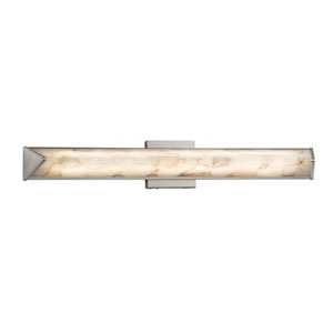 Alabaster Rocks! - Apex Brushed Nickel LED ADA Bath Vanity with Alabaster Rocks Shade