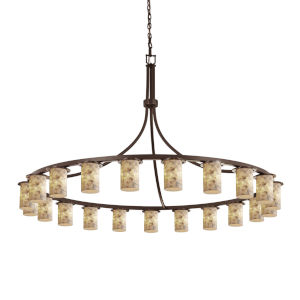 Alabaster Rocks Dark Bronze 21-Light Chandelier