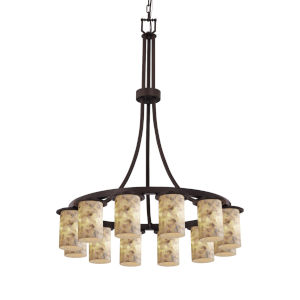Alabaster Rocks Dark Bronze 12-Light Chandelier