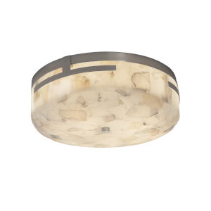 Alabaster Rocks Brushed Nickel LED Flush Mount
