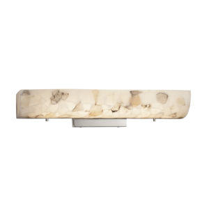 Alabaster Rocks Polished Chrome LED Bath Bar