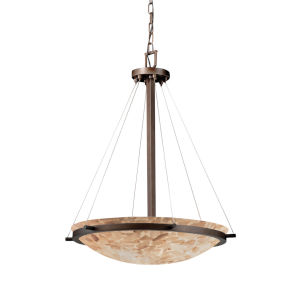 Alabaster Rocks Dark Bronze Six-Light Pendant