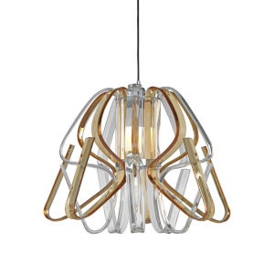 Bohemia - Kika Polished Chrome 24-Inch LED Chandelier with Clear and Amber