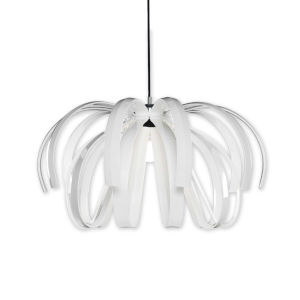 Bohemia - Danubio Polished Chrome 28-Inch LED Chandelier with Gloss White