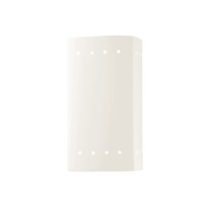 Ambiance Gloss White Five-Inch Closed Top and Bottom LED Rectangle Outdoor Wall Sconce