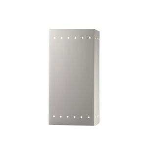 Ambiance Bisque Seven-Inch Closed Top and Bottom GU24 LED Rectangle Outdoor Wall Sconce