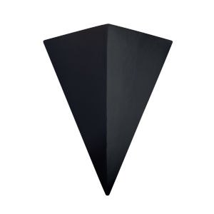 Ambiance Carbon Matte Black 20-Inch Two-Light GU24 LED Triangle Wall Sconce